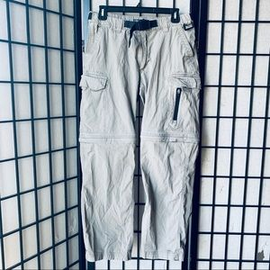 Other - BC Clothing beige convertible pants 5 pocket sz S